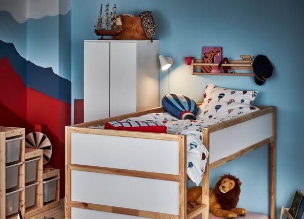 Kura Reversible Bed White Pine Capstone Couriers